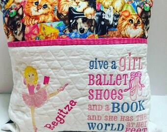 Ballarina Reading Pillow