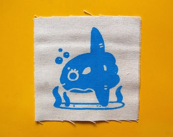 Ocean Sunfish (Mola Mola) Sew On Patch