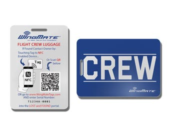 WingMate Passive Tracking Smart Luggage Tag with Web App: CREW Tag. Protect your assets while on the go! Pilot and Flight Attendant gear.