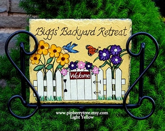 Personalized Hand Painted Decorative Garden Slate Sign/Lifeu0027s A Garden Dig  It/ Welcome To