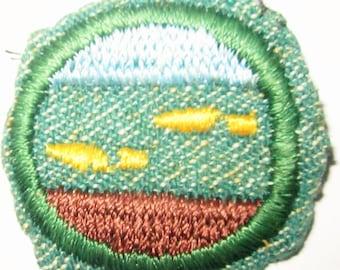 "Vintage Intermediate Girl Scout Badge ""Rambler"" circa 1948"