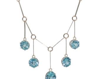 1930s Blue Zircon Necklace