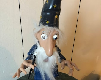 Vintage Darwin the wizard marionette puppet