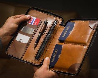 Family Travel Passport Zippered Organizer- FREE SHIPPING