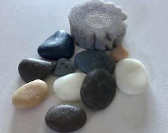 Beach/River Rocks And  Driftwood Soap Set - Beach Theme, Rustic, Wedding Favors,Country Lake River Weddings, Custom Orders