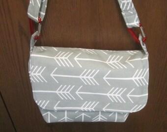 Canvas Arrow Messenger Bag