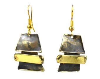 Zen Brass Earrings