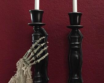 Skeleton Hand Grabbing Candle Sconces