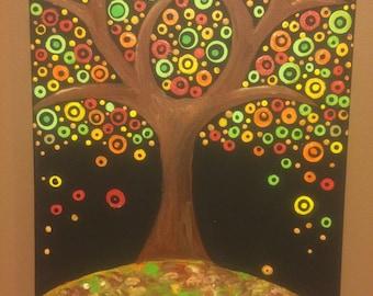 Dot Tree in Autumn