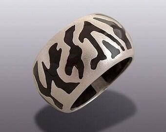 Zebra - SILVER  RING.