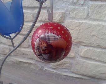 Ornament metal squirrel