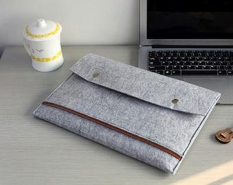 "Front Pocket Felt 15 Macbook Pro Case , Touch Bar 15"" Macbook Pro Sleeve , Felt 15 Macbook Sleeve , Felt Macbook 15"" Sleeve #208"