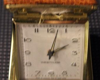 Vintage Westclox-Brand Manufactured Wind-Up Travel Alarm Clock