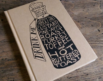 Drink Me (a gocco printed hardback notebook, A6)
