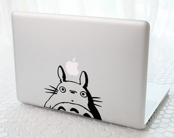 Totoro Peeking- Anime Decal for Macbook, Laptop, iPad, iPhone, Car, Windows, Wall, Nintendo 3ds, XBox, Playstation etc