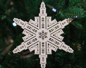 Manti Utah Temple Christmas Ornament