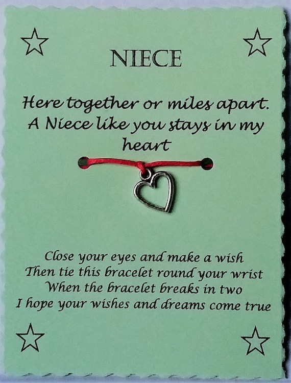 Niece easter gift niece wish bracelet niece charm bracelet niece easter gift niece wish bracelet niece charm bracelet niece bracelet niece jewelry gift for niece heart charm bracelet keepsake negle Images