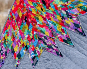 Lone Star Quilt Pattern - Luminary, Scrappy Quilt, Diamond Quilt - Alison Glass by Jamie Swanson - AG 125 - DIY Quilt Pattern