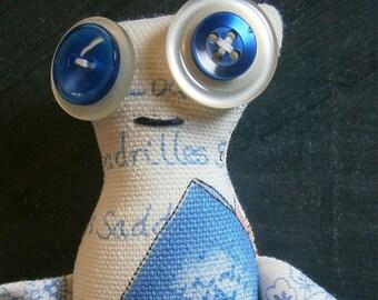 Stan - ooak Skaerrenvolk cloth art doll