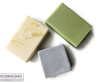 Combi package - 1 solid conditioner and 2 shampoo bars