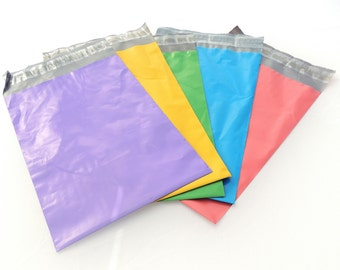 100 Color Pack 9x12 Poly Mailers, Flat Poly Mailing Shipping Bags, Purple, Pink, Colored Poly Mailer Shipping Envelope Poly Shipping Bag