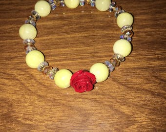 Beauty and the Beast inspired stretch bracelet