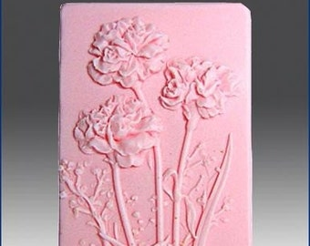Beautiful Carnation Soap January Birth Month Flower (Carnation Scent Or Choose Your Own Scent Or Color From The List Below)