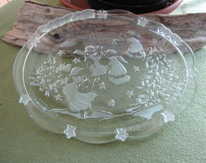 Vintage Mikasa Serving Plate Holiday Lights Oval Tray Christmas Plates