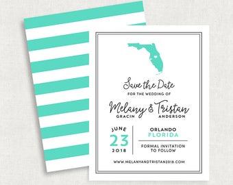 Florida Save the Dates, State Save the Dates, Florida Save the Date Magnets, Travel Save the Dates, Printable Save the Dates, DIY, PDF, jpeg