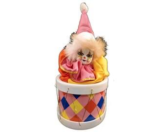 Creepy Clown, Haunted Clown, Musical Clown, Clown Music Box, Plays Send In The Clowns, Musical Clown, Toy, Vintage Collectible, Halloween