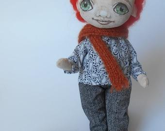textile doll interior doll cloth rag doll