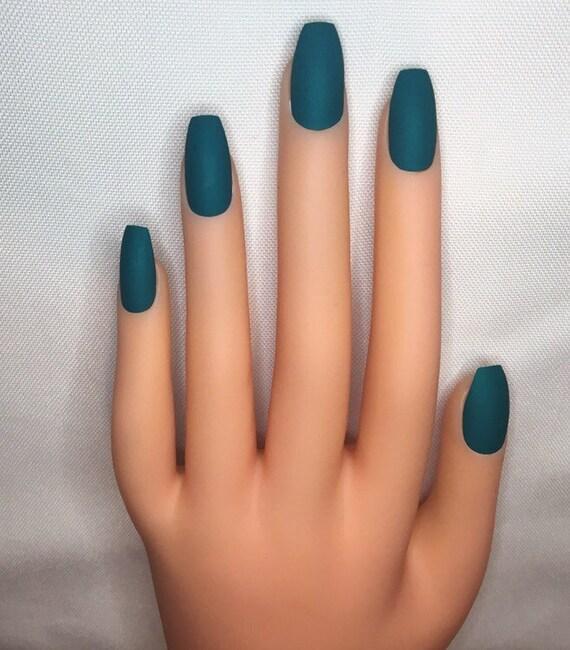 Pine Green Press On Nails l Green Fake Nails l Green False