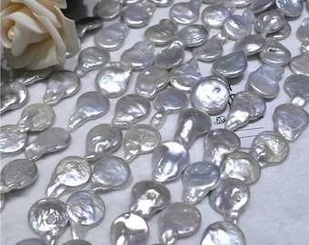 12mm teardrop shape coin shape baroque pearls necklace