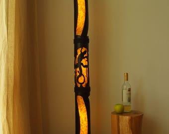 Floor Lamp, Yoga Studio Decor, Bamboo Furniture, Reclaimed Wood Furniture, Rustic Decor, Standing Lamp, Shade Lamp, Housewarming Gift