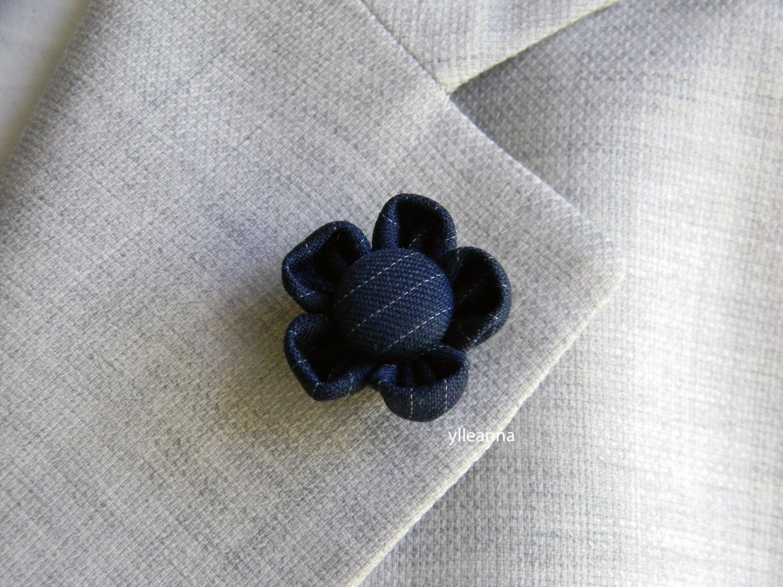 Estremamente Spilla giacca uomo. Fiore bavero giacca. Boutonniere. Fiore TS22