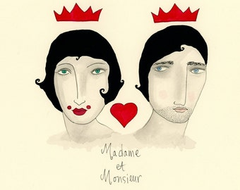 Madame et Monsieur- Love, Marriage, Crowns, Madame, Monsieur, RESERVED FOR KIRSTEN D.