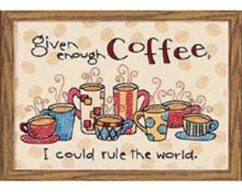 Cross Stitch Kit - Dimensions Enough Coffee
