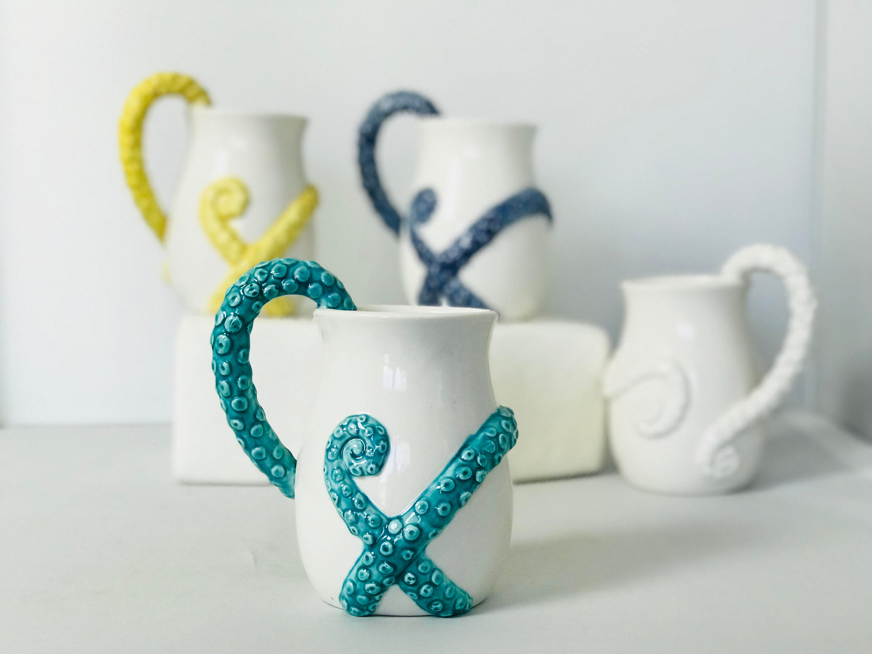 Octopus ceramic mug coffee mug for mom beer stein - Coat hook octopus ...
