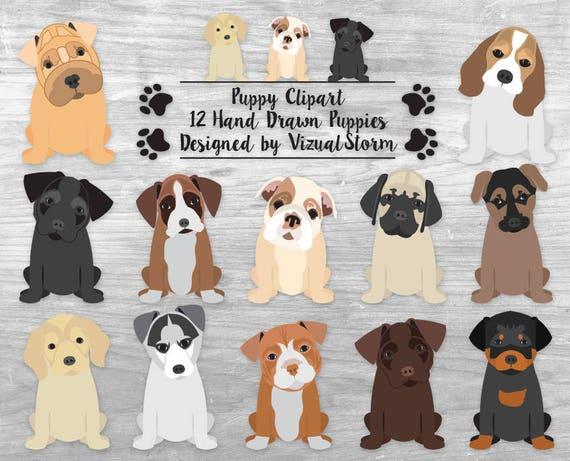cute puppy clipart puppy dog clipart pet scrapbook clipart rh etsy com clip art puppy paws clip art puppies and dogs