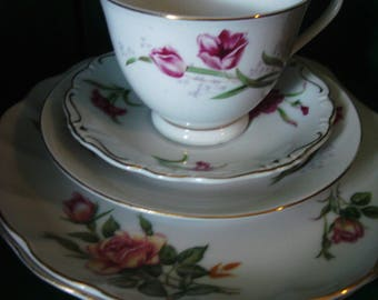 Vintage Cup and Saucer Set
