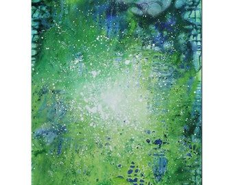 """Abstract Acrylic-painting, Original Art by JF The Artmakers : """"MONSUN IV"""", Gallery of modern & contemporary  Art"""