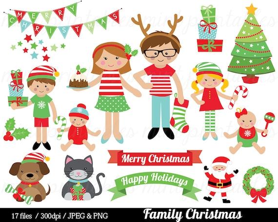 Christmas Family Clipart Christmas Clip Art tree festive