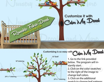 Tree Decals for Nursery, Shelf Tree Wall Decal, Boys Wall Decals (Expedition Pride Tree Only) ETO