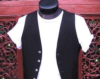 38 Men's Black Vest with pockets