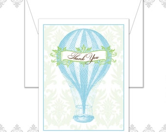 Hot Air Balloon Stationery Set of 10 with envelopes