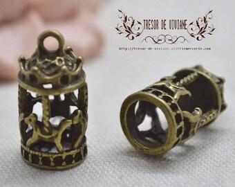 QDW099 Merry-go-bronze pendant, birdhouse, bird