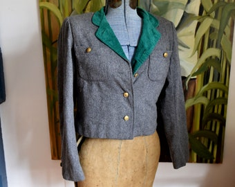 Small  - Vintage Military Style Jacket