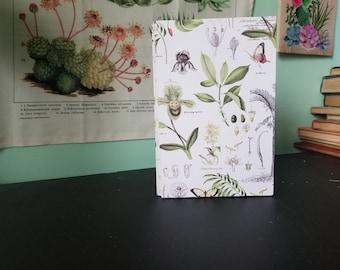 Botanical Garden Journal OR Sketchbook - Handmade - Case Bound - Recycled Materials