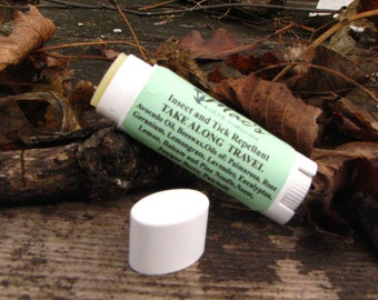 Natural Insect and Tick Repellent Solid Travel Size Stick, Alcohol Free, Chemical Free