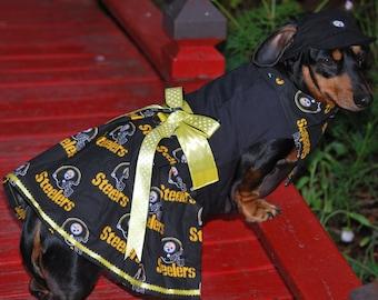 Steelers Cheerleader harness dress set Custom sizes (3 piece)